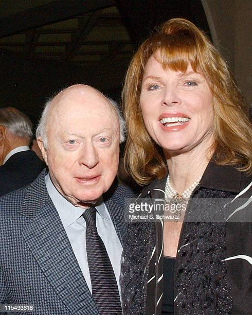 Norman LLoyd and Mariette Hartley during The 20th Annual Charlie Awards at The Hollywood Roosevelt Hotel in Hollywood California United States