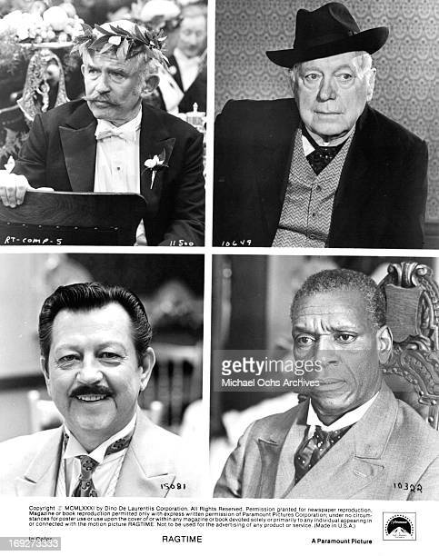 Norman Mailer Donald O'Connor Pat O'Brien and Moses Gunn in various scenes from the film 'Ragtime' 1981 Photo by Paramount/Getty Images