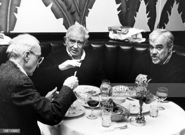 Norman Mailer during Norman Mailer Eating Dinner at Indochine Restaurant in New York City's East Village at Indochine Restaurant in New York City New...