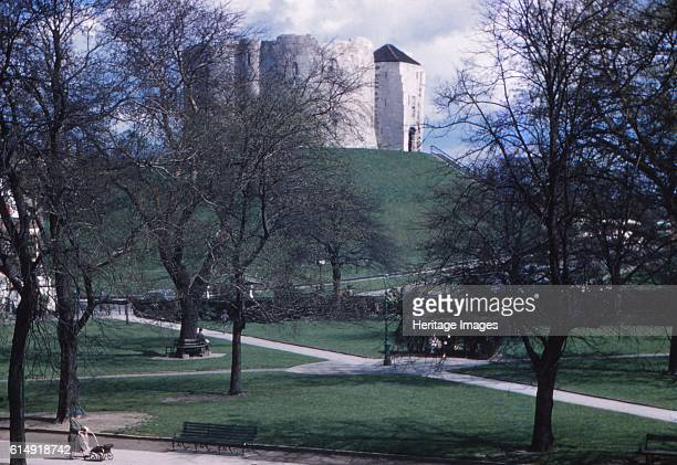 Norman Motte and Bailey Cliffords Tower York c1960 Medieval Norman castle commonly referred to as Clifford's Tower The first motte and bailey castle...