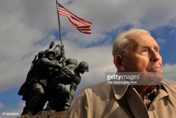 Norman Norm Hatch poses for a portrait near the US Marine Corps War Memorial which is also referred to as the Iwo Jima Memorial on Wednesday February...