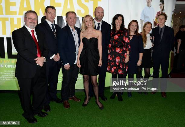 Norman Pace producer Rob perren Neil Back Beth Cordingly Lawrence Dallaglio and George Mackay arrive for the World Premiere of Breakfast With Jonny...