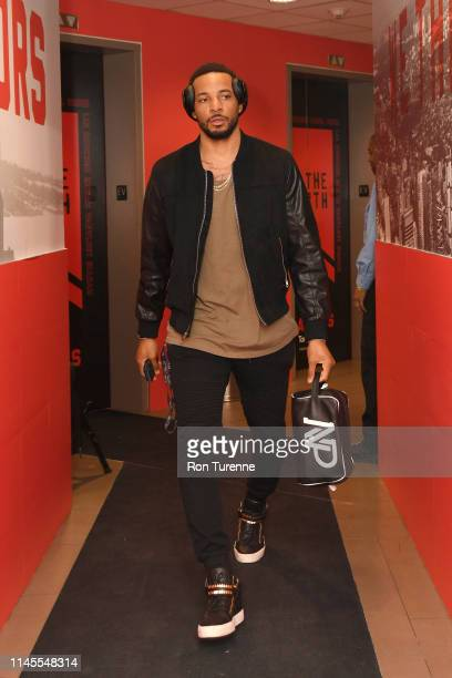 Norman Powell of the Toronto Raptors arrives at the arena before the game against the against the Milwaukee Bucks in Game Four of the Eastern...