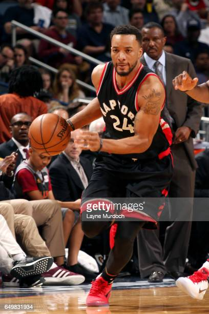 Norman Powell of the Toronto Raptors brings the ball up court during the game against the New Orleans Pelicans on March 8 2017 at the Smoothie King...