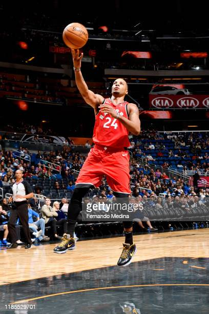 Norman Powell of the Toronto Raptors drives to the basket during a game against the Orlando Magic on November 29 2019 at Amway Center in Orlando...