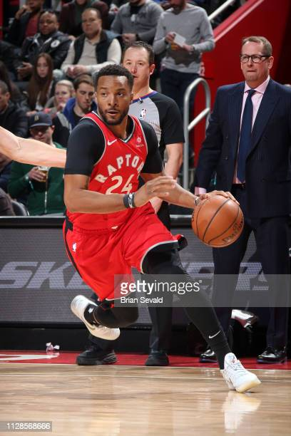 Norman Powell of the Toronto Raptors handles the ball against the Detroit Pistons on March 3 2019 at Little Caesars Arena in Detroit Michigan NOTE TO...