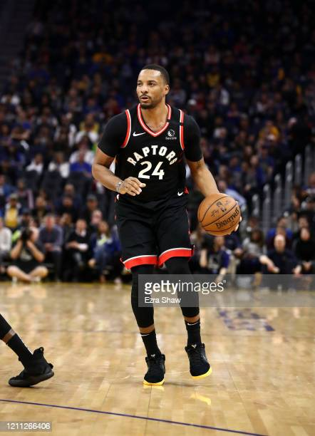 Norman Powell of the Toronto Raptors in action against the Golden State Warriors at Chase Center on March 05 2020 in San Francisco California NOTE TO...