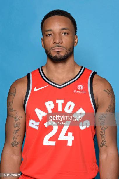 Norman Powell of the Toronto Raptors poses for a head shot during media day at Scotiabank Arena on September 24 2018 in Toronto Canada NOTE TO USER...