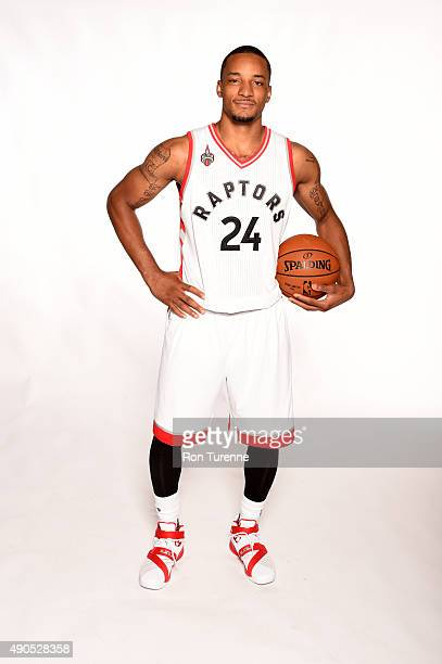 Norman Powell of the Toronto Raptors poses for a photo during media day on September 28 at the Air Canada Centre in Toronto Ontario Canada NOTE TO...