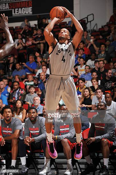 Norman Powell of the Toronto Raptors shoots against the Chicago Bulls during the game on July 16 2015 at Cox Pavilion Las Vegas Nevada NOTE TO USER...