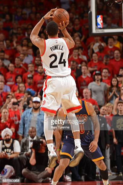 Norman Powell of the Toronto Raptors shoots the ball against the Cleveland Cavaliers in Game Six of the NBA Eastern Conference Finals at Air Canada...