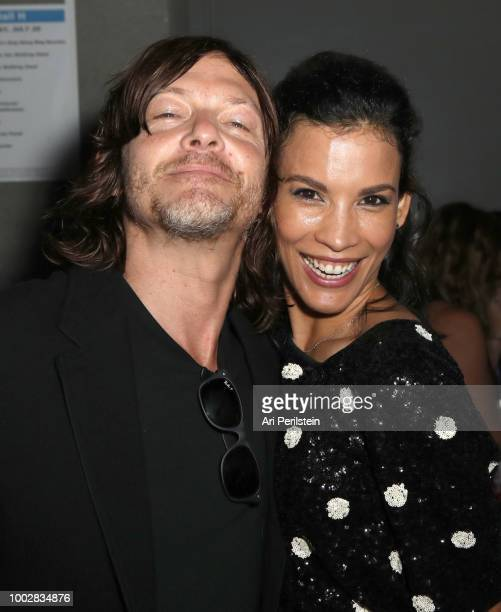 Norman Reedus and Danay Garcia attend the 'Fear the Walking Dead' panel with AMC during ComicCon International 2018 at San Diego Convention Center on...