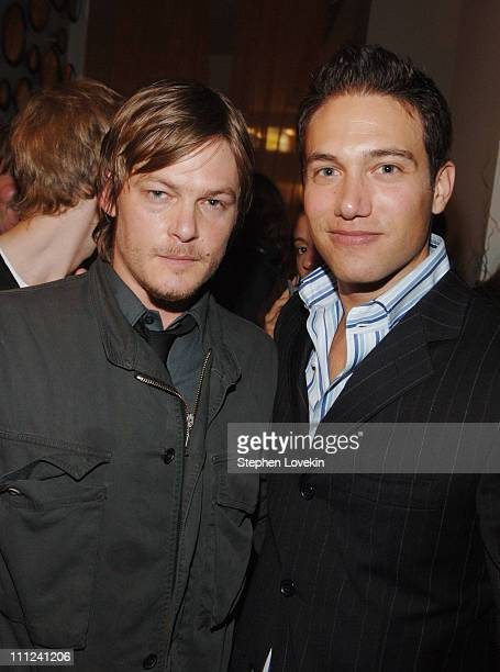 Norman Reedus and Eric Villency during Brian Reyes Clebrates His Spring 2006 Collection Hosted by Maurice Villency at Maurice Villency Showroom in...