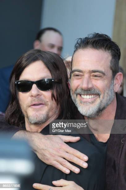 Norman Reedus and Jeffrey Dean Morgan are seen on October 22 2017 in Los Angeles CA