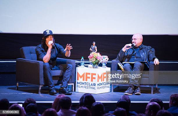 Norman Reedus and Joel Sillerman speak at the Montclair Film Festival 2016 on May 7 2016 in Montclair City