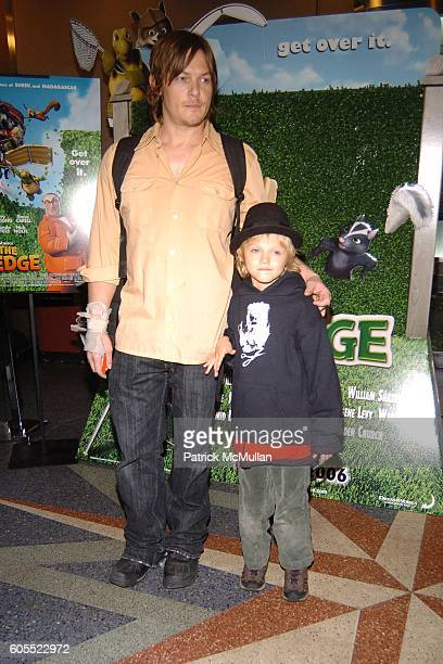 Norman Reedus and Mingus Reedus attend Over the Hedge Premiere at Chelsea West Theatre on May 16 2006 in New York City