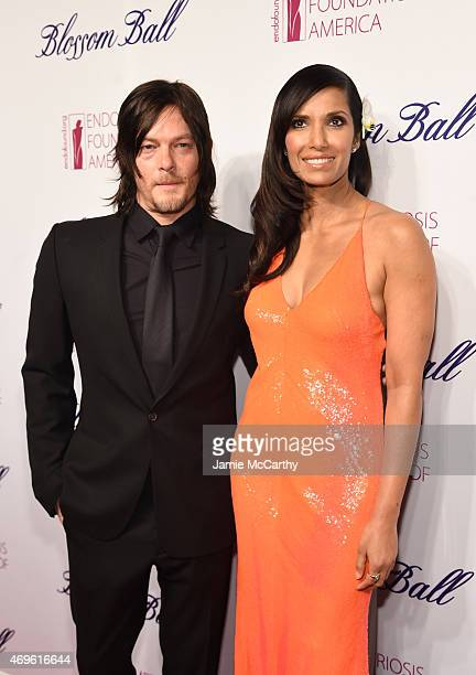 Norman Reedus and Padma Lakshmi attend EFA's 7th Annual Blossom Ball at Cipriani Downtown on April 13 2015 in New York City