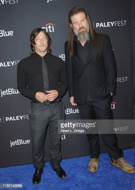 """Norman Reedus and Ryan Hurst attend The Paley Center For Media's 2019 PaleyFest LA - """"The Walking Dead"""" held at Dolby Theatre on March 22, 2019 in..."""