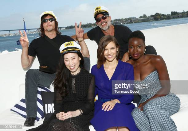 Norman Reedus Angela Kang Jeffrey Dean Morgan Lauren Cohan and Danai Gurira attend the #IMDboat At San Diego ComicCon 2018 Day Two at The IMDb Yacht...