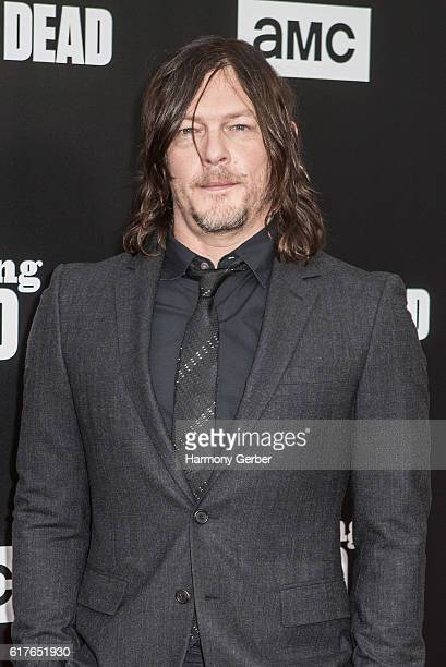 Norman Reedus arrives at AMC presents live 90minute special edition of 'Talking Dead' at Hollywood Forever on October 23 2016 in Hollywood California
