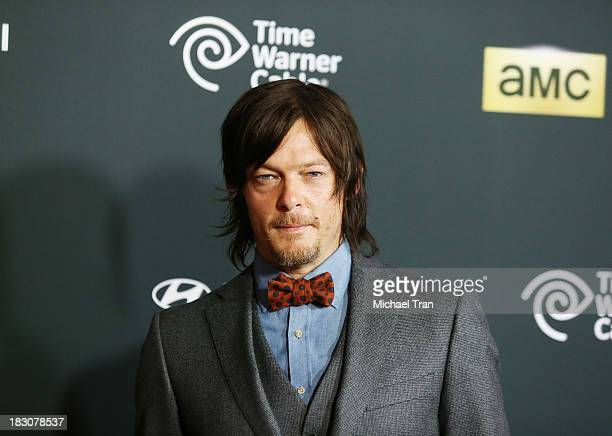 Norman Reedus arrives at the Los Angeles premiere of AMC's The Walking Dead 4th season held at Universal CityWalk on October 3 2013 in Universal City...