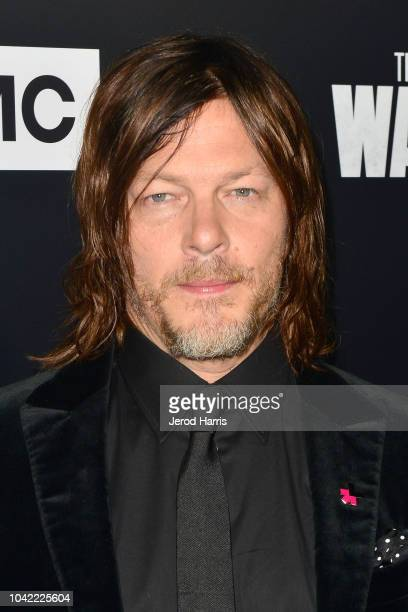Norman Reedus arrives at the Premiere Of AMC's 'The Walking Dead' Season 9 at the DGA Theater on September 27 2018 in Los Angeles California