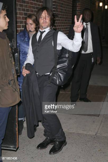 Norman Reedus arrives for his appearance on 'The Late Show With Stephen Colbert' at Ed Sullivan Theater on November 8 2017 in New York City