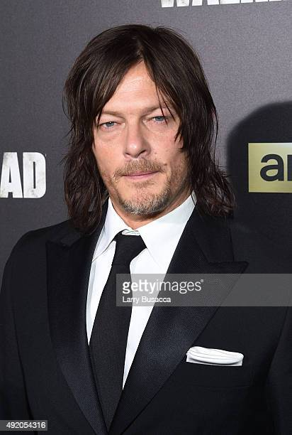 Norman Reedus attends AMC's 'The Walking Dead' Season 6 Fan Premiere Event 2015 at Madison Square Garden on October 9 2015 in New York City
