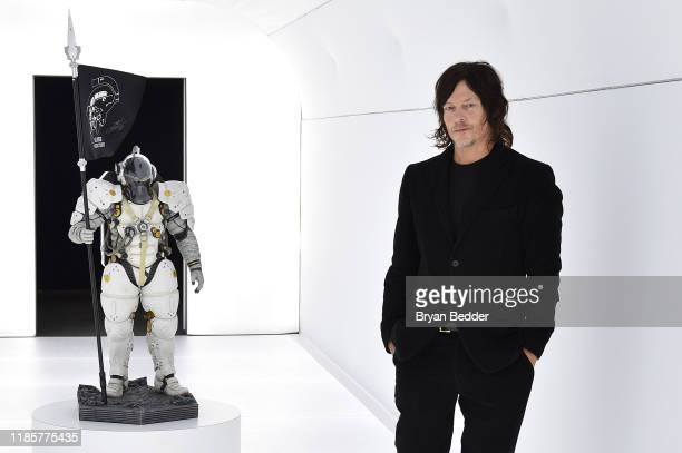 Norman Reedus attends Fractured Worlds The Art of DEATH STRANDING on November 05 2019 in New York City
