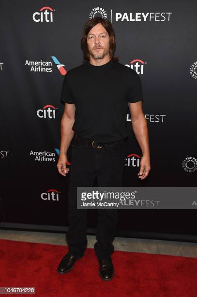 Norman Reedus attends PaleyFest NY The Walking Dead screening and panel at The Paley Center For Media on October 6 2018 in New York City