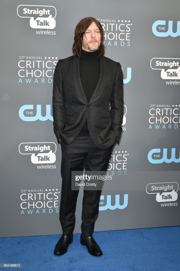 Norman Reedus attends The 23rd Annual Critics' Choice Awards - Arrivals at The Barker Hanger on January 11, 2018 in Santa Monica, California.