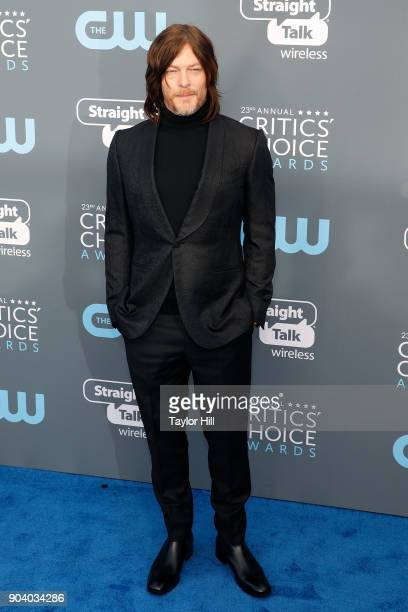 Norman Reedus attends the 23rd Annual Critics' Choice Awards at Barker Hangar on January 11 2018 in Santa Monica California