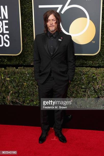 Norman Reedus attends The 75th Annual Golden Globe Awards at The Beverly Hilton Hotel on January 7 2018 in Beverly Hills California