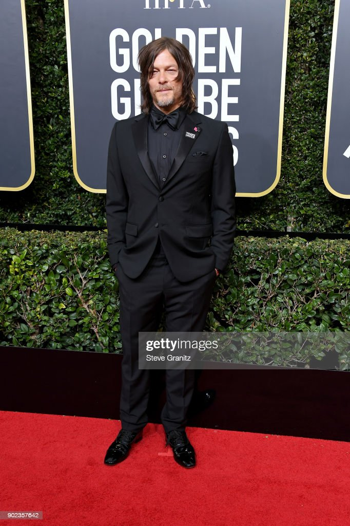 Norman Reedus attends The 75th Annual Golden Globe Awards at The Beverly Hilton Hotel on January 7, 2018 in Beverly Hills, California.