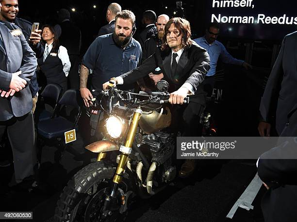 """Norman Reedus attends the AMC's """"The Walking Dead"""" Season 6 Fan Premiere Event 2015 at Madison Square Garden on October 9, 2015 in New York City."""