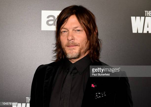 Norman Reedus attends the premiere of AMC's The Walking Dead season 9 at DGA Theater on September 27 2018 in Los Angeles California