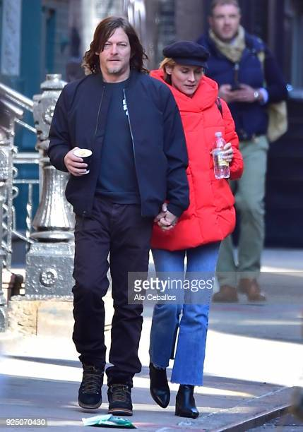 Norman Reedus Diane Kruger are seen looking at real estate in the West Village on February 27 2018 in New York City
