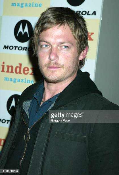 Norman Reedus during Index MagazineMotorola Benefit for the McAuley Psychiatric Treatment Program at The Public Theater in New York New York United...