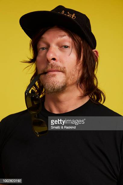 Norman Reedus from AMC Networks 'The Walking Dead' poses for a portrait at the Getty Images Portrait Studio powered by Pizza Hut at San Diego 2018...