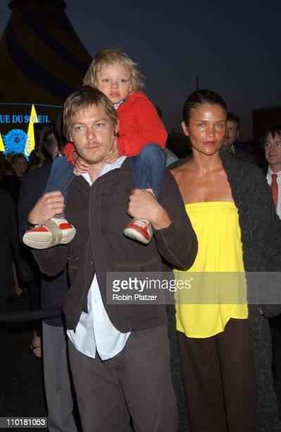 Norman Reedus Helena Christensen and son Mingus during Cirque du Soleil's Latest Production Varekai Grand Opening at Randall's Island Park in New...