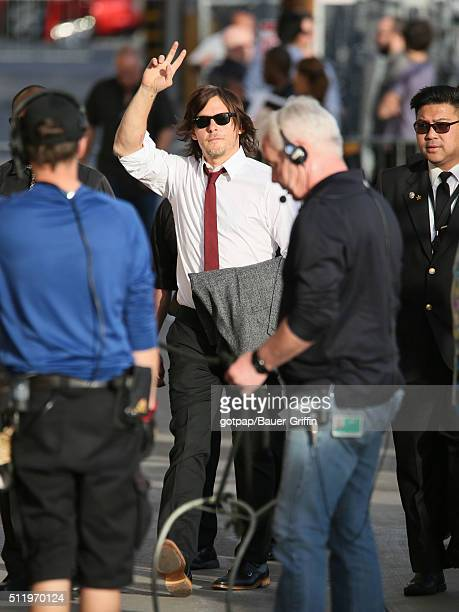 Norman Reedus is seen at 'Jimmy Kimmel Live' Show on February 23, 2016 in Los Angeles, California.