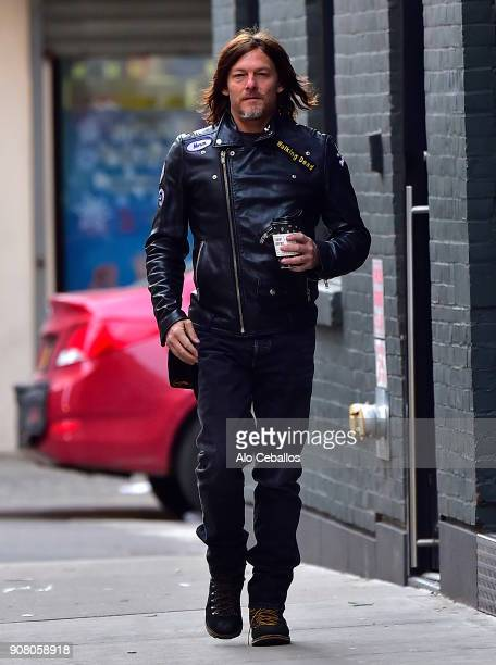 Norman Reedus is seen in Soho on January 20 2018 in New York City