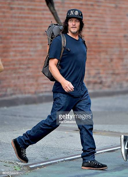 Norman Reedus is seen in Soho on September 13 2016 in New York City