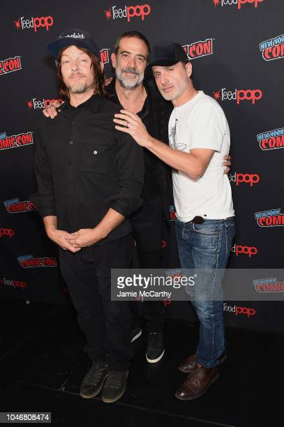 """Norman Reedus, Jeffrey Dean Morgan, Andrew Lincoln attend the NYCC panel and fan screening of """"The Walking Dead"""" episode 901 at The Theater at..."""