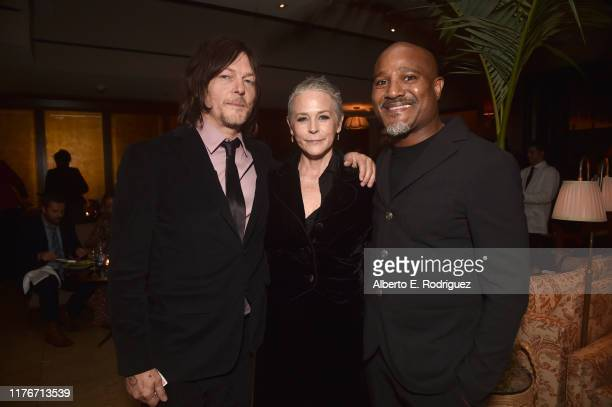 """Norman Reedus, Melissa McBride and Seth Gilliam attend the after party for the season 10 Special Screening of AMC's """"The Walking Dead"""" on September..."""