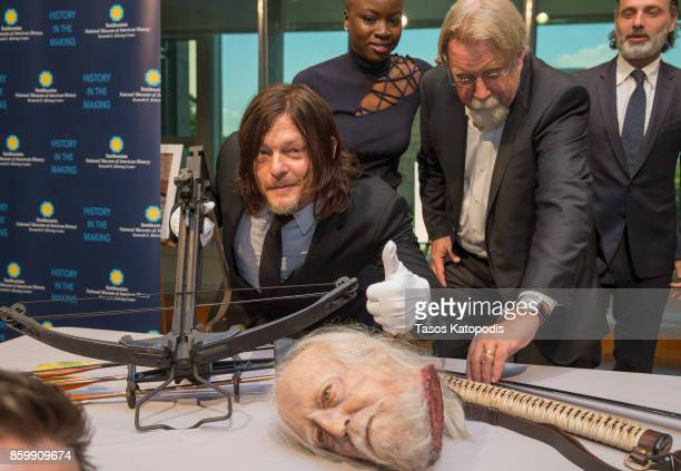 Norman Reedus of 'The Walking Dead' attends 'The Walking Dead' event at Smithsonian National Museum of American History on October 10 2017 in...