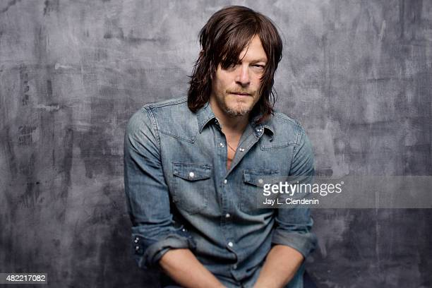 Norman Reedus of 'The Walking Dead' poses for a portrait at ComicCon International 2015 for Los Angeles Times on July 9 2015 in San Diego California...