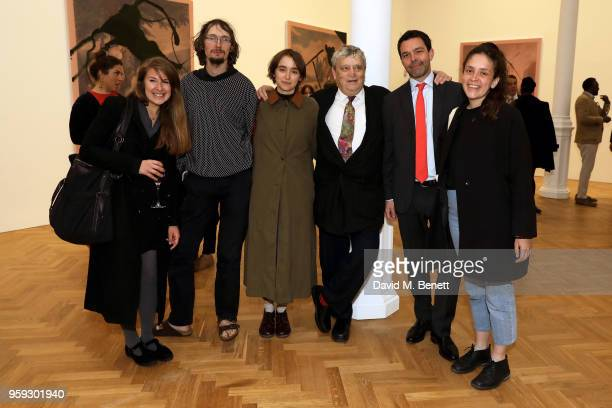 Norman Rosenthal and Elliot McDonald attend Pace Gallery Celebrates Julian Schnabel at 6 Burlington Gardens on May 16 2018 in London England