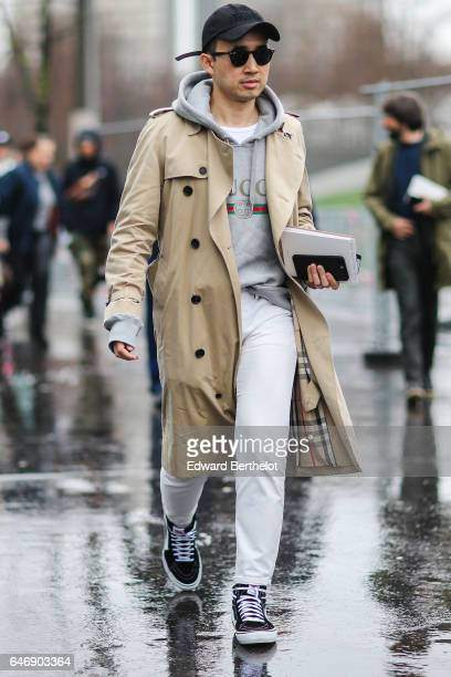 Norman Tan is seen outside the Dries Van Noten show during Paris Fashion Week Womenswear Fall/Winter 2017/2018 on March 1 2017 in Paris France