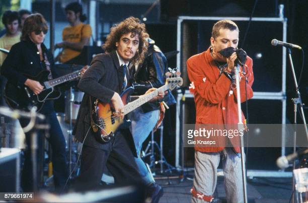 Norman WattRoy Ian Dury and the Blockheads performing on stage Alkmaar Pop Festival AZ 67 Stadion Alkmaar Netherlands 17th June 1978